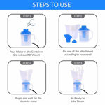 3 in 1 Beauty and Health Sauna Nose Steamer and Inhaler Transparent