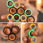 3 Pcs Magnetic Ring Toy for Kids, Anti Stress Finger Magnetic Rings, Magical Finger Spinning Magnetic Toy