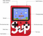 400 in 1 Sup Video Game Box with Colorful LED Screen Chargeable Battery Handheld Size Easy to Connect All Smart & Android TV [Multi Color]