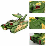 Automatic Deformation 2 in 1 Aircraft and Military Tank Toy for Kids with 3D LED Lights and Music - Bump and Go Action - Battery Operated