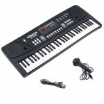 Big Fun 61 Key Electronic Digital Piano Keyboard- Multi-Function Portable Piano Keyboard Electronic Organ with Charging Function for Music and piyano Lover(Black)