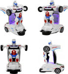 Car Auto Convert into Robot Deform Car toy with Light and Music(White, Pack of: 1)