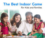 Carrom Board Set 1 Striker and 26 Coins for Kids, Boys & Girls (20x20 Inch), Age 3 to 8 Years