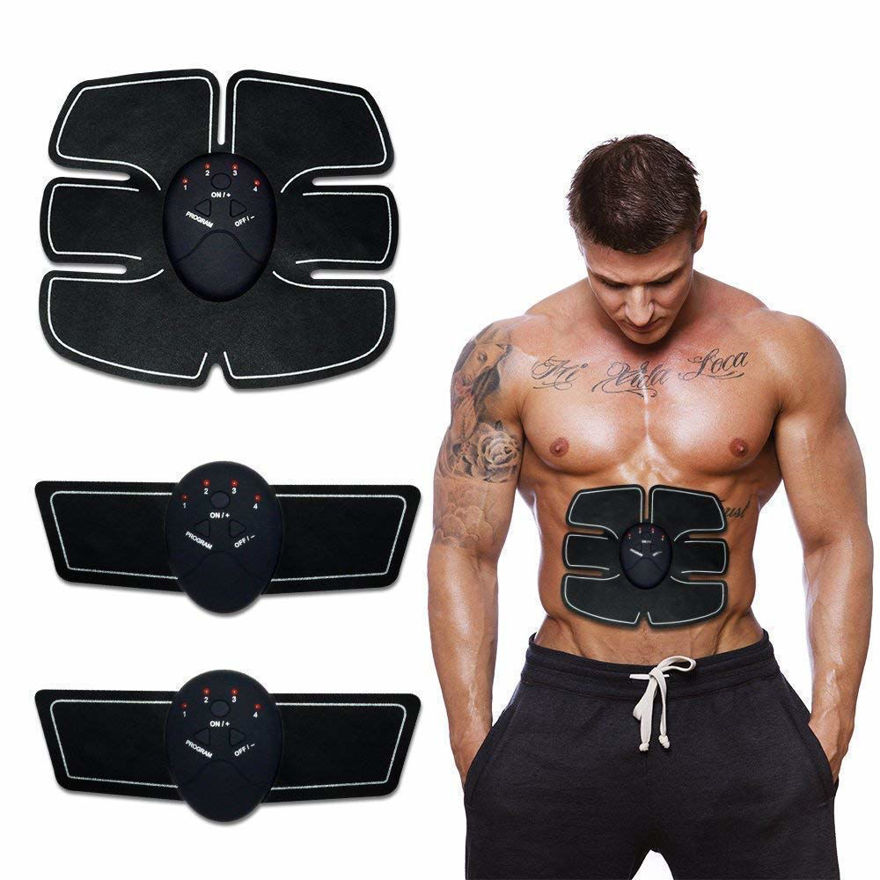 6 Pack EMS Tummy Flatter, Weight loss Muscle Toning/Fitness Technology Kit 6 Pack Abs, Wireless Electro Pad Portable Gym Trainer for Men/Women