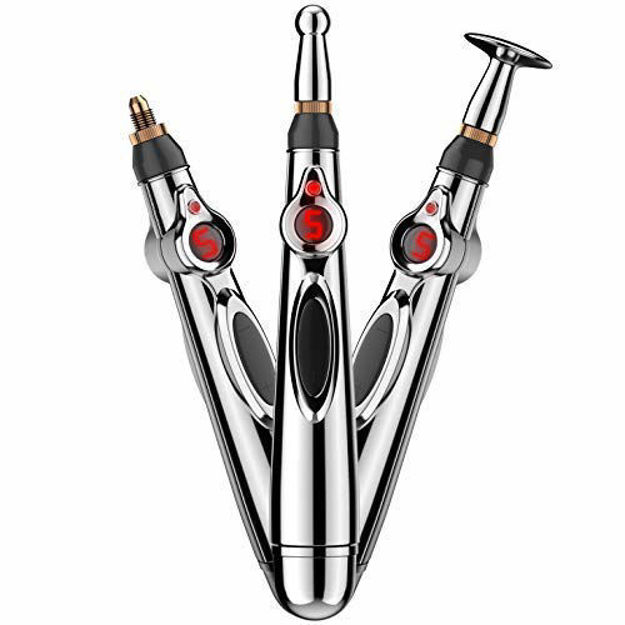 Electric Acupuncture Point Body Massager Pen Pain Relief Laser Therapy Electronic Meridian Energy Pen Body Head Back Neck Leg Massager