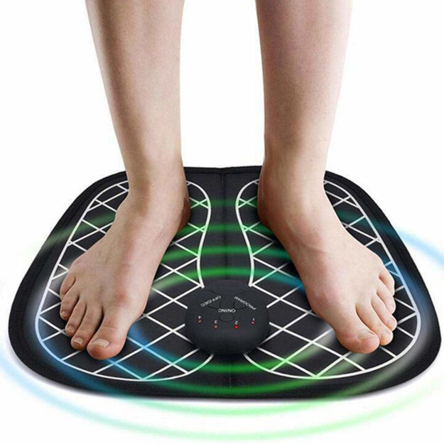 Electric EMS Foot Massager Pad Feet Muscle Stimulator Improve Blood Circulation Relieve Ache Pain