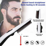 Is it too much time to take care of the beard before going to work? This hair straightener saves you most of your Is it too much time to take care of the beard before going to work? This hair straightener saves you most of your time. It only takes 30 seconds to heat up quickly. Using thick comb teeth can make your beard soft and sleek and lasting! time. It only takes 30 seconds to heat up quickly. Using thick comb teeth can make your beard soft and sleek and lasting!