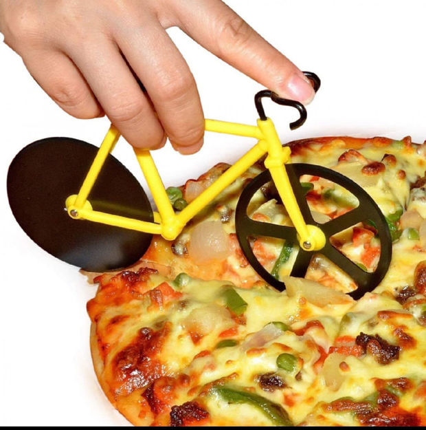 Picture of Stainless steel Bicycle shape Pizza cutter