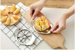 Picture of Stainless Steel Apple Cutter Slicer with 8 Blades and Handle