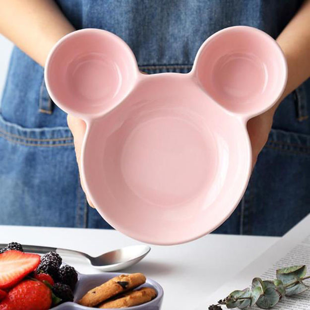 Picture of Mickey Shaped Kids/Snack Serving Sectioned Plate