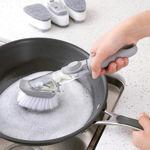 Picture of Automatic Liquid Dispenser Dish Clean Brush Scrubber