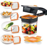 Picture of 5 in 1 Multifunction Vegetable Cutter Manual Dicer with Container Box