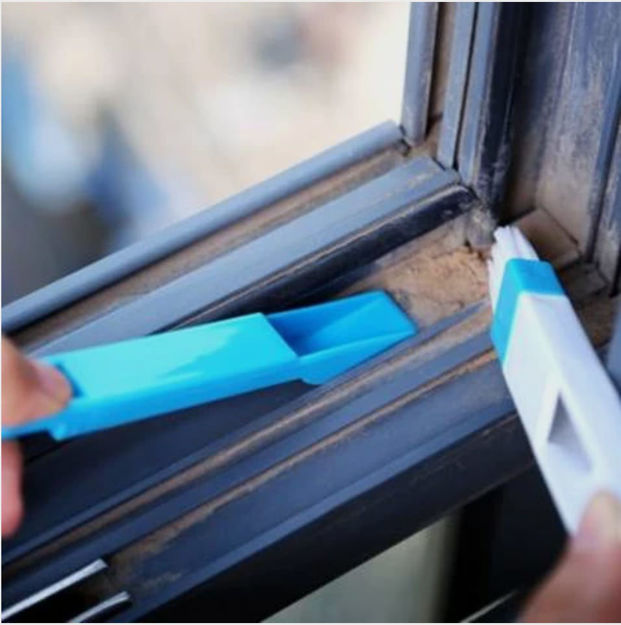 Picture of Window Frame dust Cleaning Brush Plastic Keyboard Corners Brush with Mini Dustpan