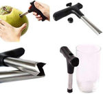 Picture of Coconut Opener Bundle Drill Cutter Cleaning Stick Tap Hot Straight Peeler  (Silver)