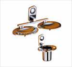 Picture of 304 Stainless Steel Chrome Double Soap Dish Toothbrush Holder Soap Case Bathroom Soap And Toothbrush Holder Accessories Anti Rust CM