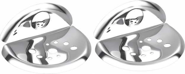 Picture of Set of 2 pieces Stainless Steel soap Dish - Centro Series