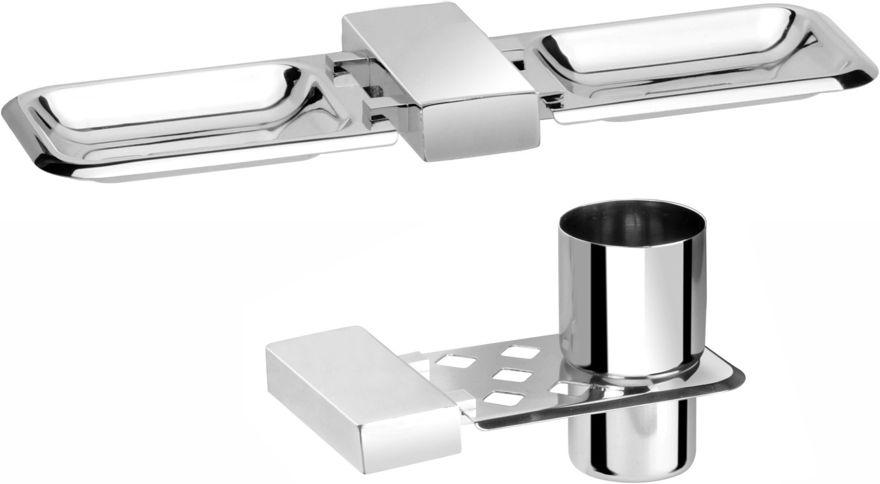 Picture of 2 Pieces Bathroom Accessories(1-Soap Dish ,1-Tumbler Holder)-Nexon Series