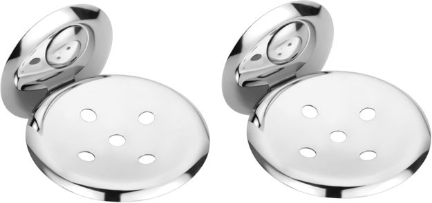 Picture of Set of 2 pieces Stainless Steel Soap Dish - Creta Series