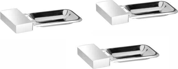 Picture of Set of 3 pieces 304-Stainless Steel Soap Dish -