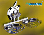 Picture of 304 Stainless Steel Chrome Finish Double Soap Dish Soap Case Soap Holder Double Soap Stands Bathroom Accessories Anti Rust AP