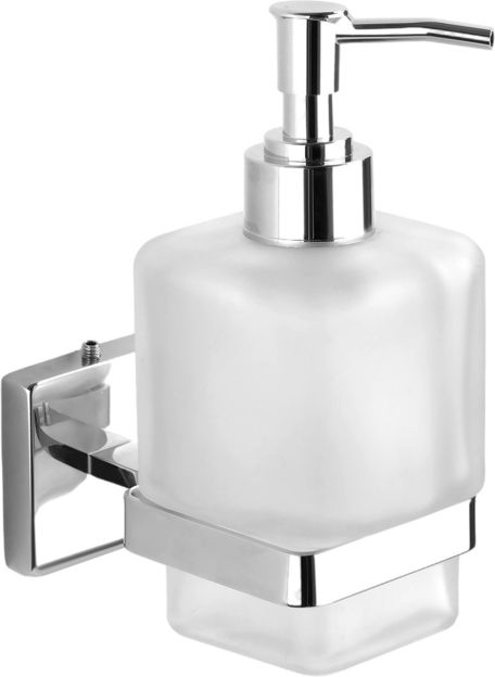 Picture of 304 Stainless steel Stand Glass Bottle Liquid Soap Dispenser LX