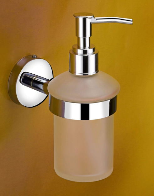 Picture of 304 Stainless steel Stand Glass Bottle Liquid Soap Dispenser For Kitchen And Wash basin