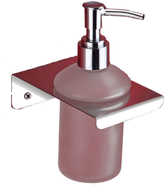 Picture of AISI 304 Stainless steel Stand Glass Bottle Liquid Soap, shampoo, Hand wash Dispenser