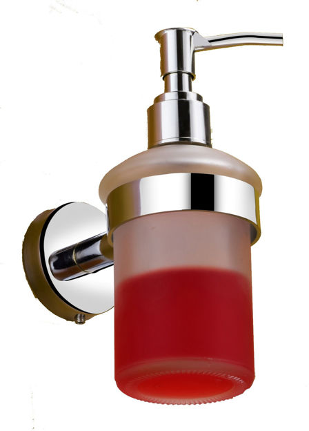 Picture of 304 Stainless steel Stand Glass Bottle Liquid Soap Dispenser
