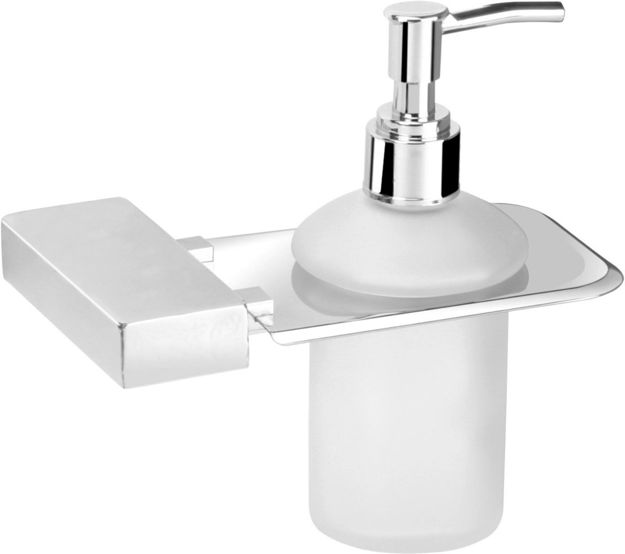 Picture of 304 Stainless steel Stand Glass Bottle Liquid Soap Dispenser NX