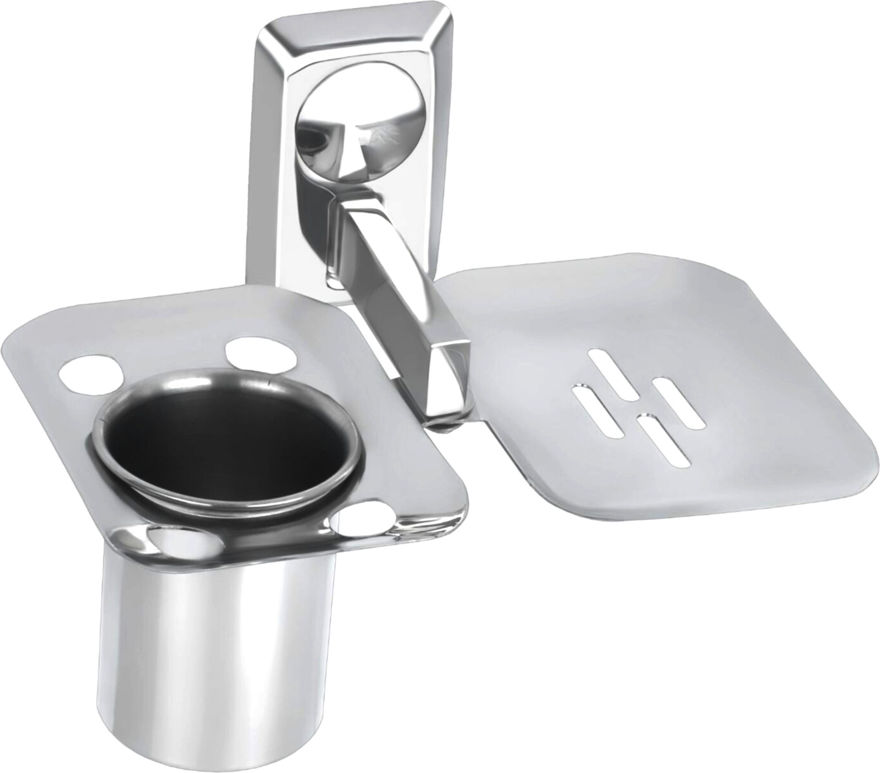 Picture of Stainless steel with  toothbrush holder with soap dish toothpaste holder with soap case tumbler holder with soap case