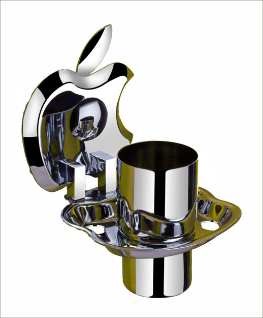 Picture of 304 Stainless Steel Chrome Toothbrush Holder Tumbler Holder Toothbrush Stand Tumbler stand Bathroom Accessories Anti Rust AP