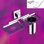 Picture of AISI 304 Stainless Steel Chrome Soap Dish With Toothbrush Holder Tumbler Holder Toothbrush Stand Tumbler stand Bathroom Accessories MR