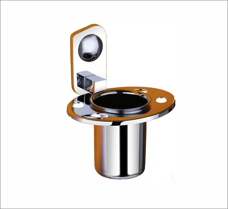 Picture of 304 Stainless Steel Chrome Toothbrush Holder Tumbler Holder Toothbrush Stand Tumbler stand Bathroom Accessories Anti Rust CM