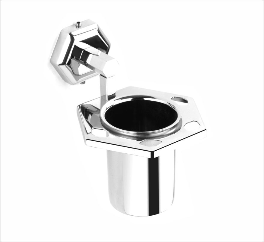 Picture of 304 Stainless Steel Chrome Toothbrush Holder Tumbler Holder Toothbrush Stand Tumbler stand Bathroom Accessories Anti Rust HX