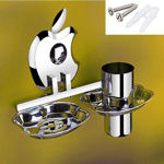 Picture of 304 Stainless Steel Chrome Soap Dish With Toothbrush Holder Tumbler Holder Toothbrush Stand Tumbler stand Bathroom Accessories AP