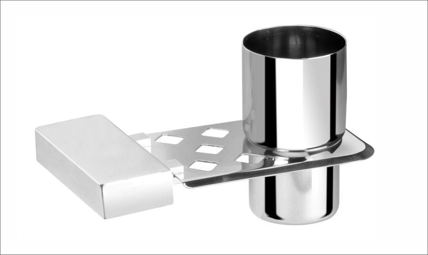 Picture of 304 Stainless Steel Chrome Toothbrush Holder Tumbler Holder Toothbrush Stand Tumbler stand Bathroom Accessories Anti Rust NX