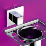 Picture of 304 Stainless Steel Chrome Toothbrush Holder Tumbler Holder Toothbrush Stand Tumbler stand Bathroom Accessories Anti Rust MR