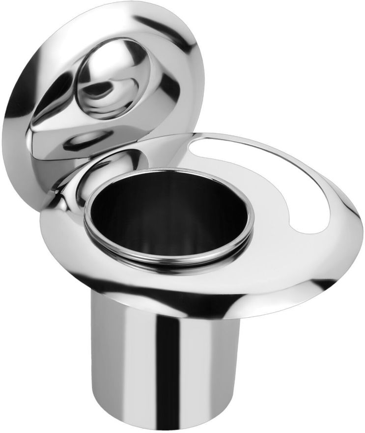 Picture of Stainless Steel Chrome Soap Dish With Toothbrush Holder Tumbler Holder Toothbrush Stand Tumbler stand Bathroom Accessories