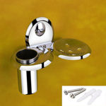 Picture of Stainless Steel Chrome Soap Dish With Toothbrush Holder Tumbler Holder Toothbrush Stand Tumbler stand Bathroom Accessories O