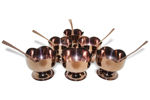 Picture of PVD Coating Stainless Steel Gold Bowl for Ice Cream Dessert Flower Cut Shape Designer Set(Set of 12 Pcs - 6 Bowl, 6 Spoons)
