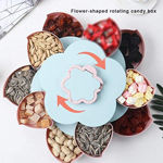 Picture of BLACK FOX ENTERPRISE Plastic Flower Smart Candy Box with Mobile Stand | Double Layer Rotating Serving Tray for Dry Fruit, Chocolate, Snacks Storage Box, Masala Box (Multicolour)