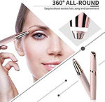 Picture of Flawless Women's Portable Safe USB Rechargeable Painless Electric Eyebrow Trimmer Facial Hair Remover (Rose Gold)
