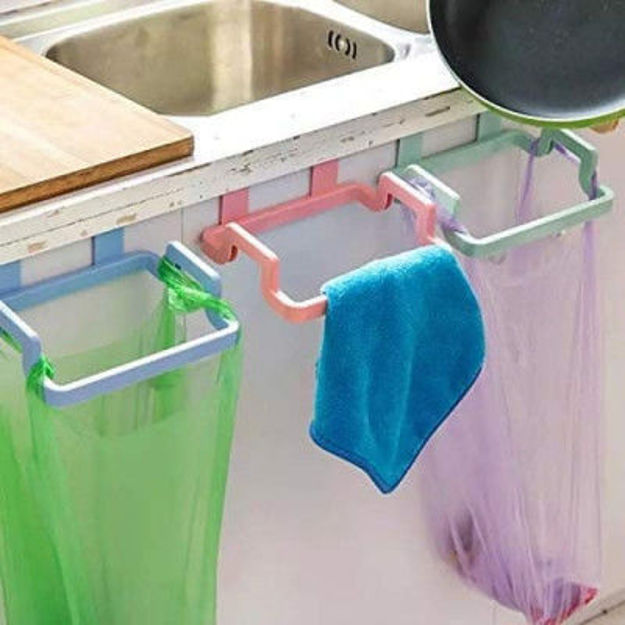 Picture of Kitchen Plastic Garbage Bag Rack Holdery