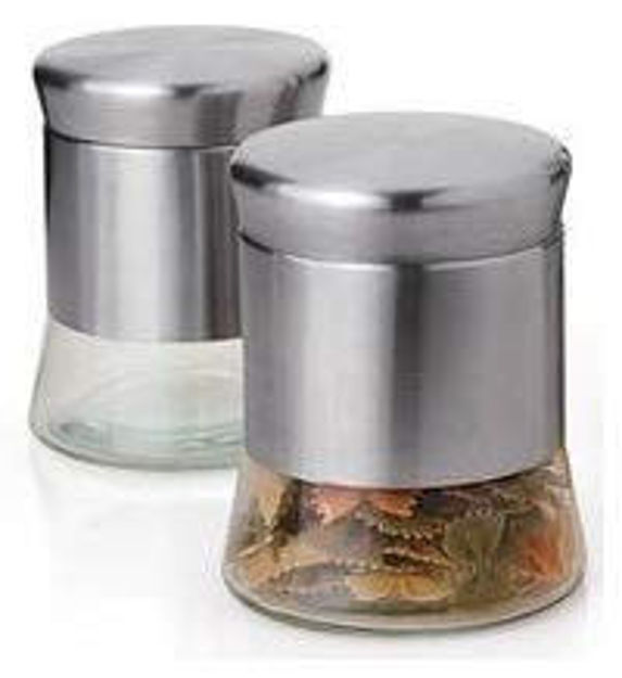Picture of Crystal Clear Glass Jar Storage For Tea
