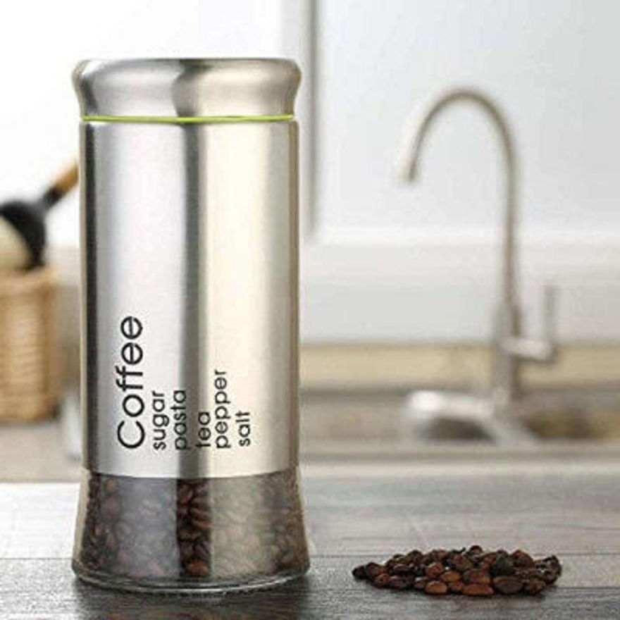 Picture of Crystal Clear Glass Jar Storage Foe Coffee