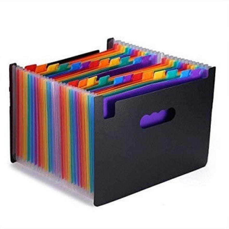 Picture of 24 Pocket Raindow Expanding Folder