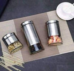 Picture of Steel Round Glass And Jar Container With Lid
