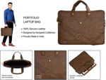 Picture of Leather Brown Laptop Bag(4)