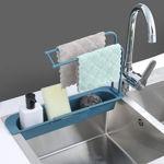 Picture of Telescopic Sink Holder, Adjustable Drainer Sink Tray Sponge Soap Holder