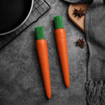 Picture of Carrot Shaped Silicon Kitchen Oil Brush